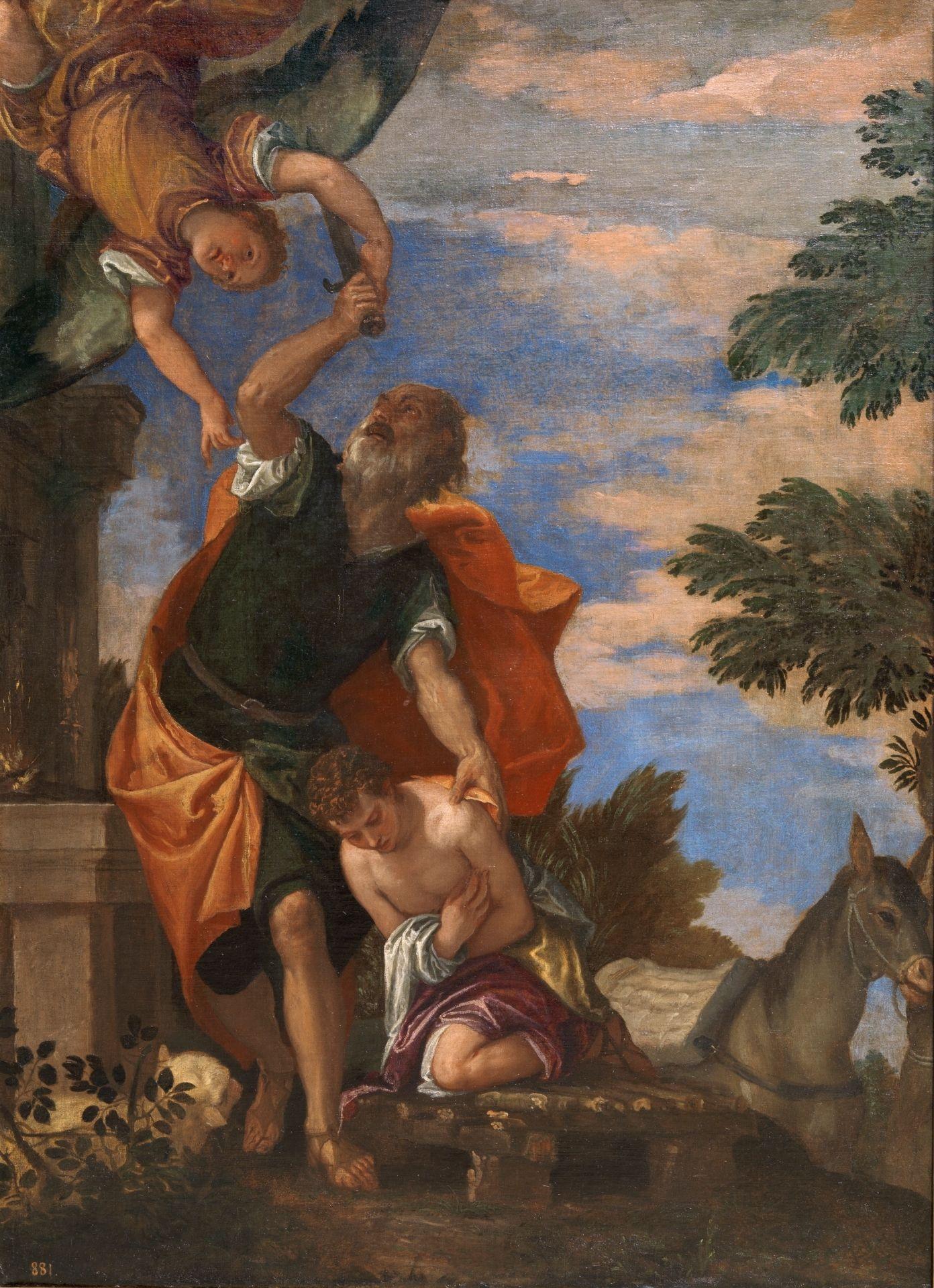 The Sacrifice Of Isaac Sacrificio De Isaac 1585 1588