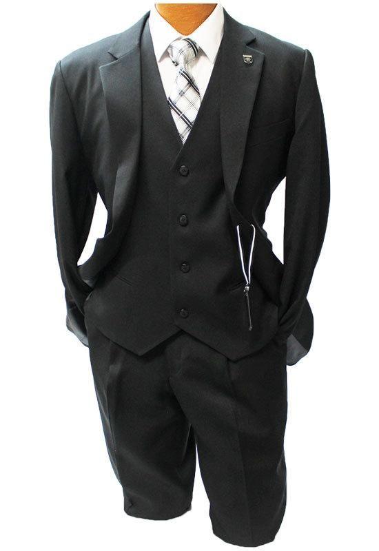 c8903084ea3 Stacy Adams Suny Vest Black 3 Pc. Fashion Suit 4016-100
