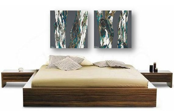 Extra Large Wall Art Print Oversized Diptych Tree Bedroom Living Room