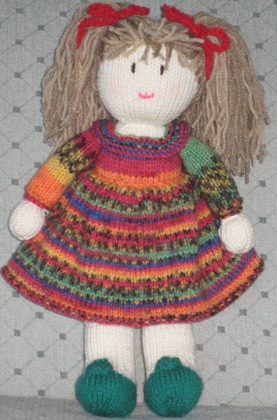 Hand knitted doll by DreamDollies on Etsy | Doll Inspiration Rag ...