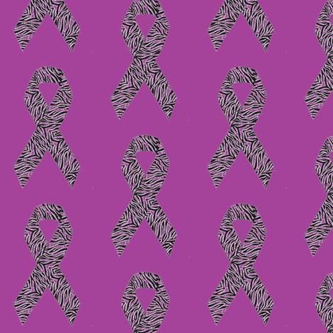 Purple Rare Disease Ribbon fabric by annaliesbabyboutique on Spoonflower - custom fabric
