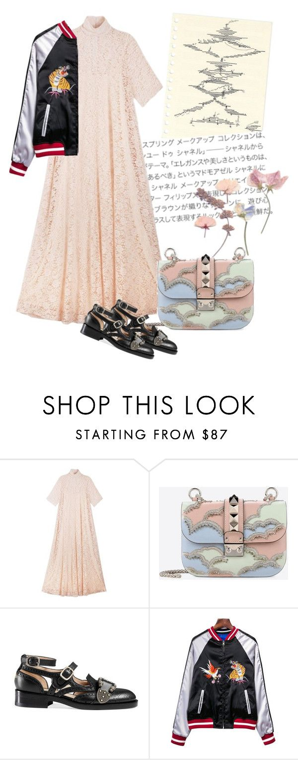 """""""Japunk"""" by may-kashara ❤ liked on Polyvore featuring Ryan Roche, Valentino and Gucci"""