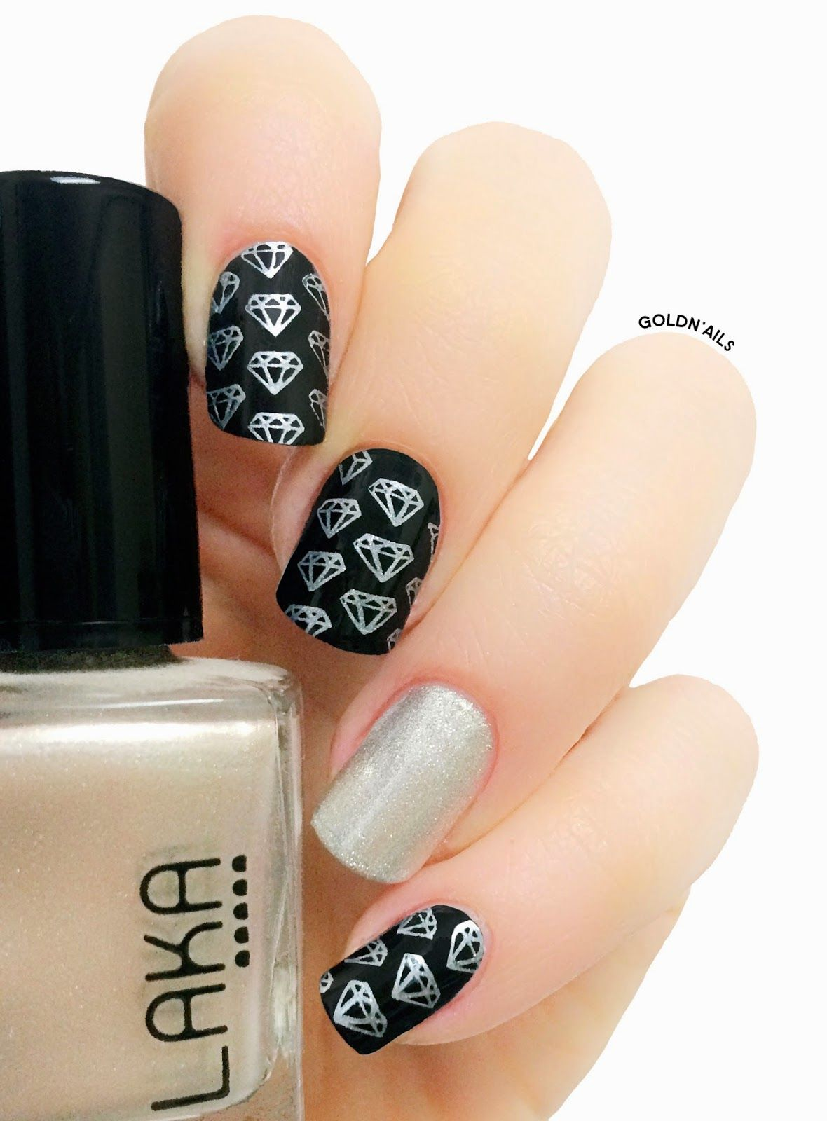 Diamonds Nails made with MoYou London Stamps | Nail Art - MoYou ...