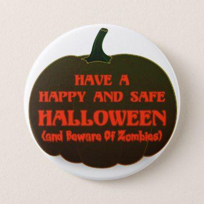 Happy Halloween Pumpkin Button - Halloween happyhalloween festival party holiday