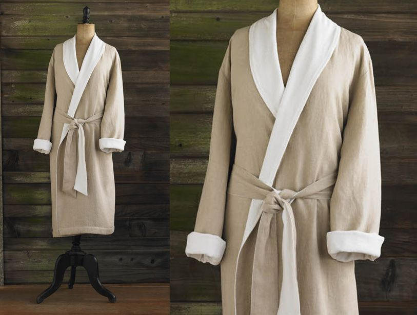 We lined soft, weighty linen with organic cotton terry in