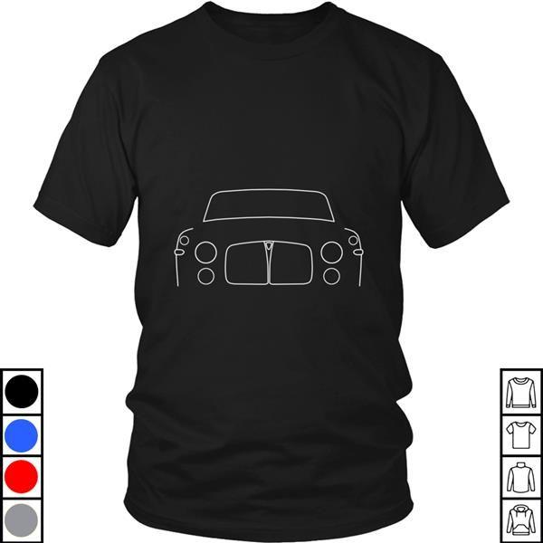 Teeecho Rover P5 Classic Car White Outline Graphic T-Shirt, Sweatshirt, Hoodie for Men & Women