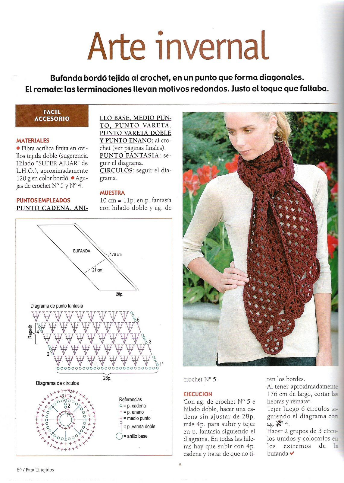 crochet bufandas patrones - Google Search | puntos crochet ...