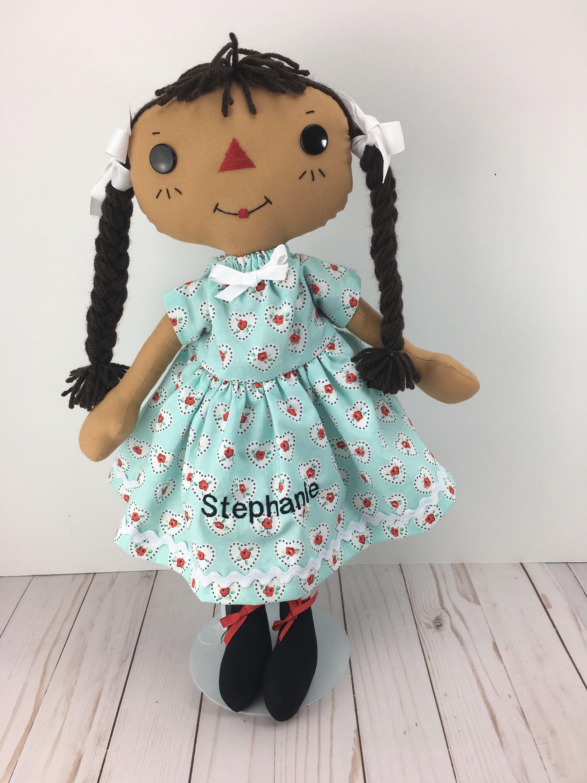 Cinnamon annie raggedy ann doll personalized gift african cinnamon annie raggedy ann doll personalized gift african american rag doll black baby negle Choice Image