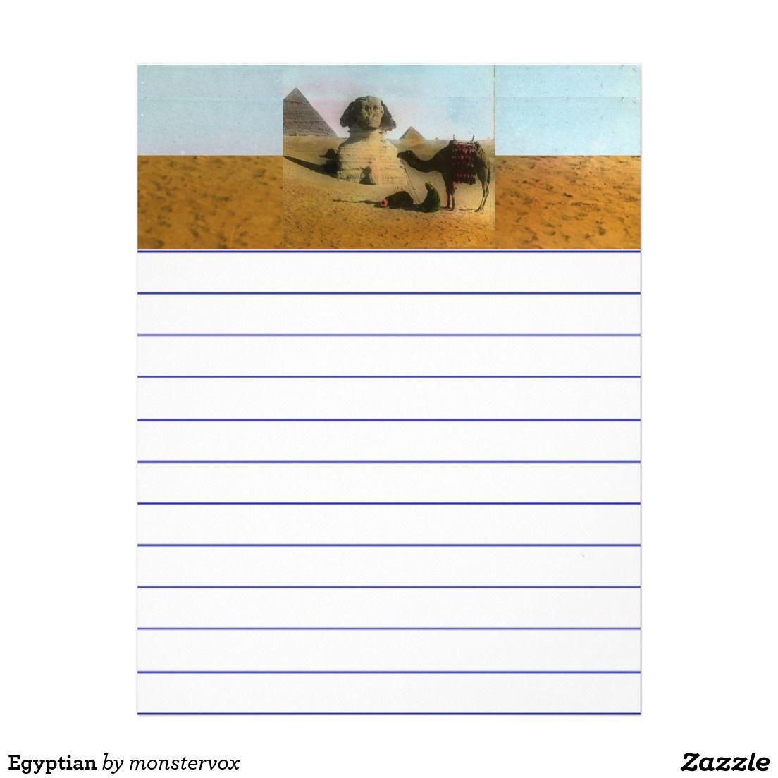 Egyptian Letterhead #Egypt #Egyptian #Pyramid #Camel #Desert #Africa #LetterHead #Stationery