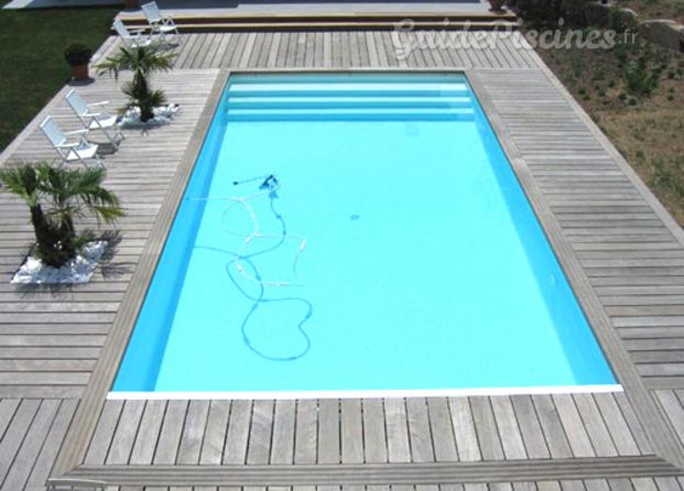 Piscine avec terrasse en bois cosas de casa pinterest for Installateur de piscine en bois