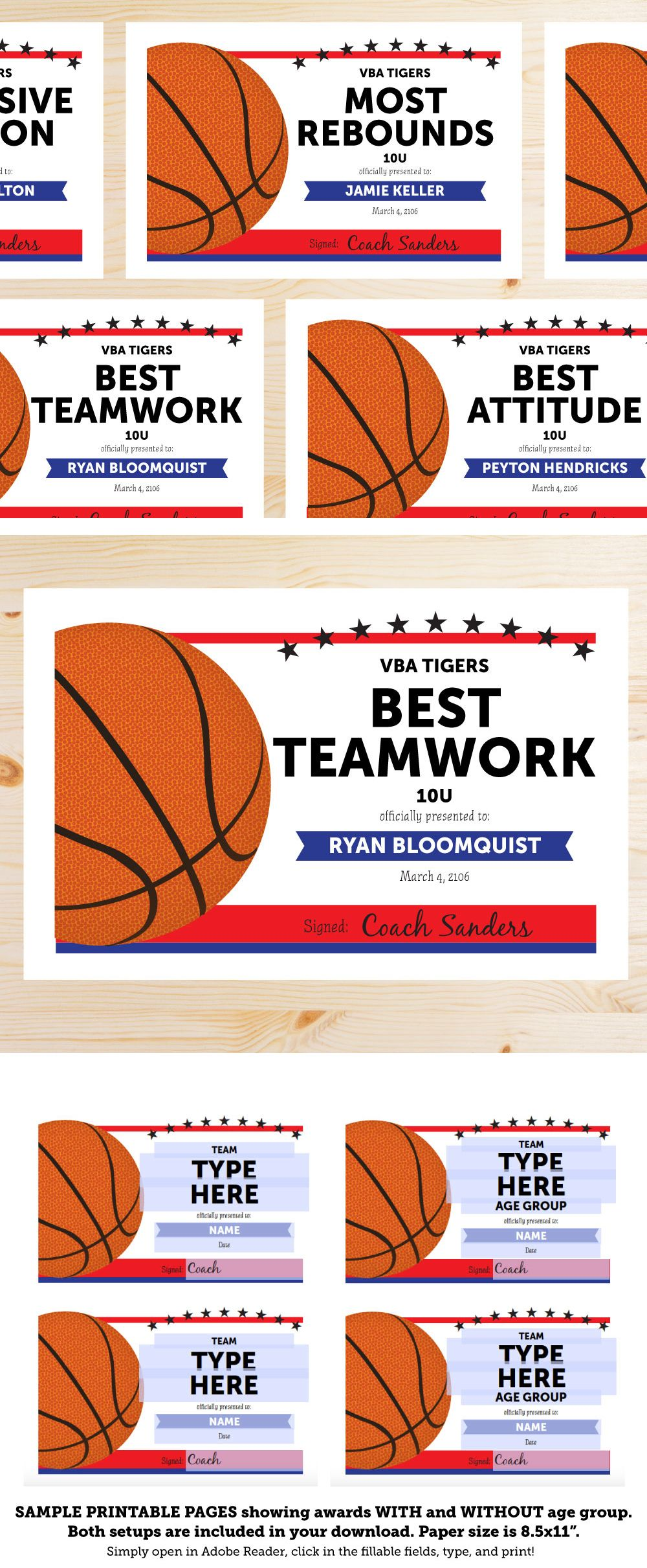 Great list of basketball award categories and editable basketball great list of basketball award categories and editable basketball award certificates at this link she xflitez Choice Image
