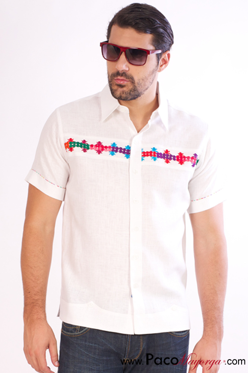 VivosCamisas Tipicad En Con Camisa Colores Lino Bordados 7by6gf