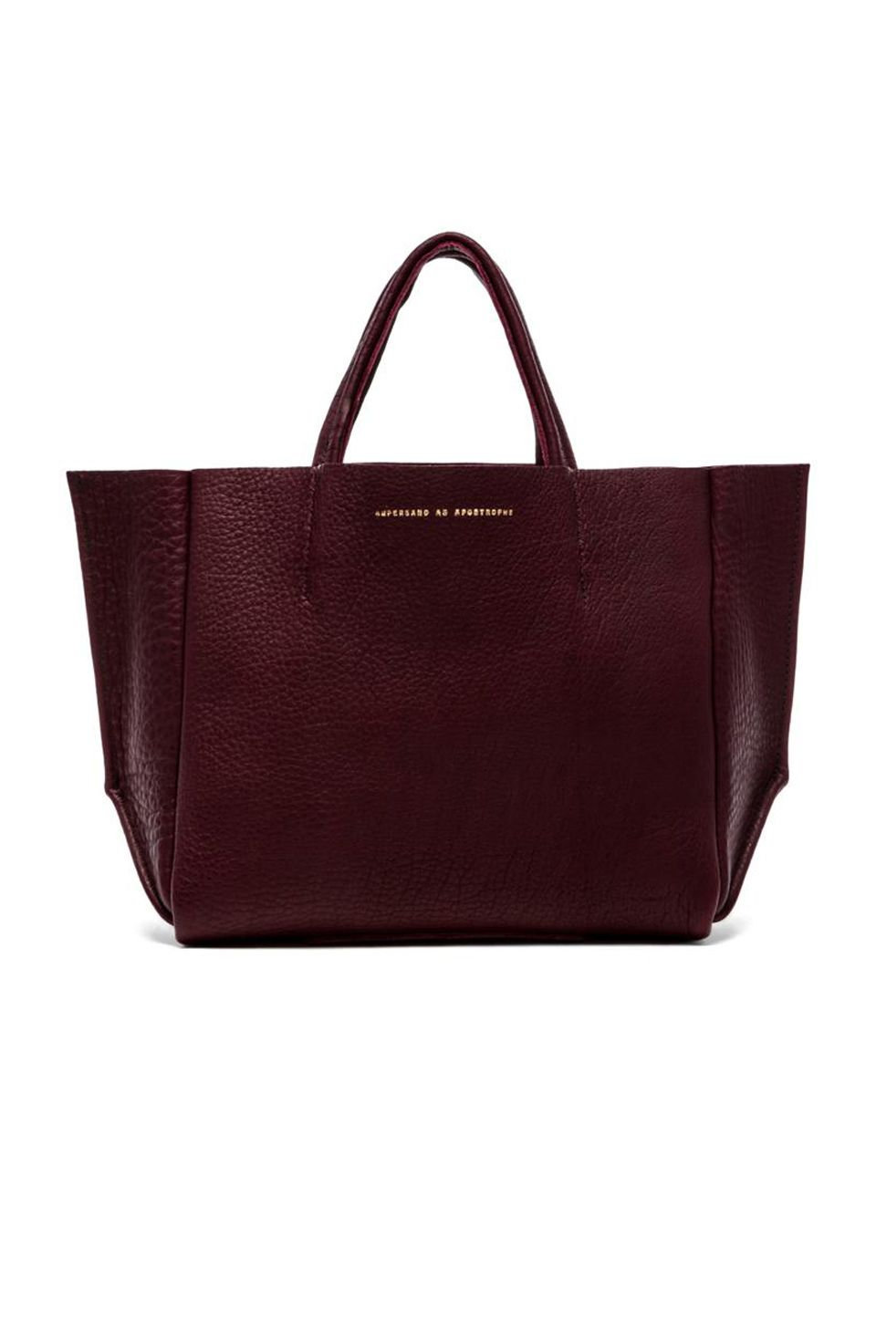 02c5801007d AMPERSAND AS APOSTROPHE Buffalo Half Tote in Oxblood | REVOLVE ...