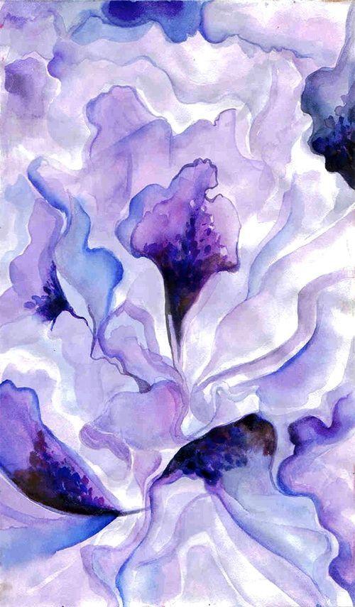 Georgia O Keeffe Purple Art Georgia O Keefe Art Flower Art