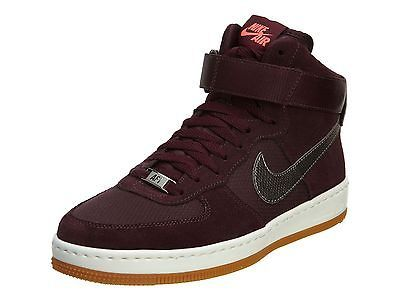 NIKE AIR FORCE 1 ULTRA FORCE MID WOMENS 654851-600 Burgundy Red Shoes Size  10.5 80f2f1417