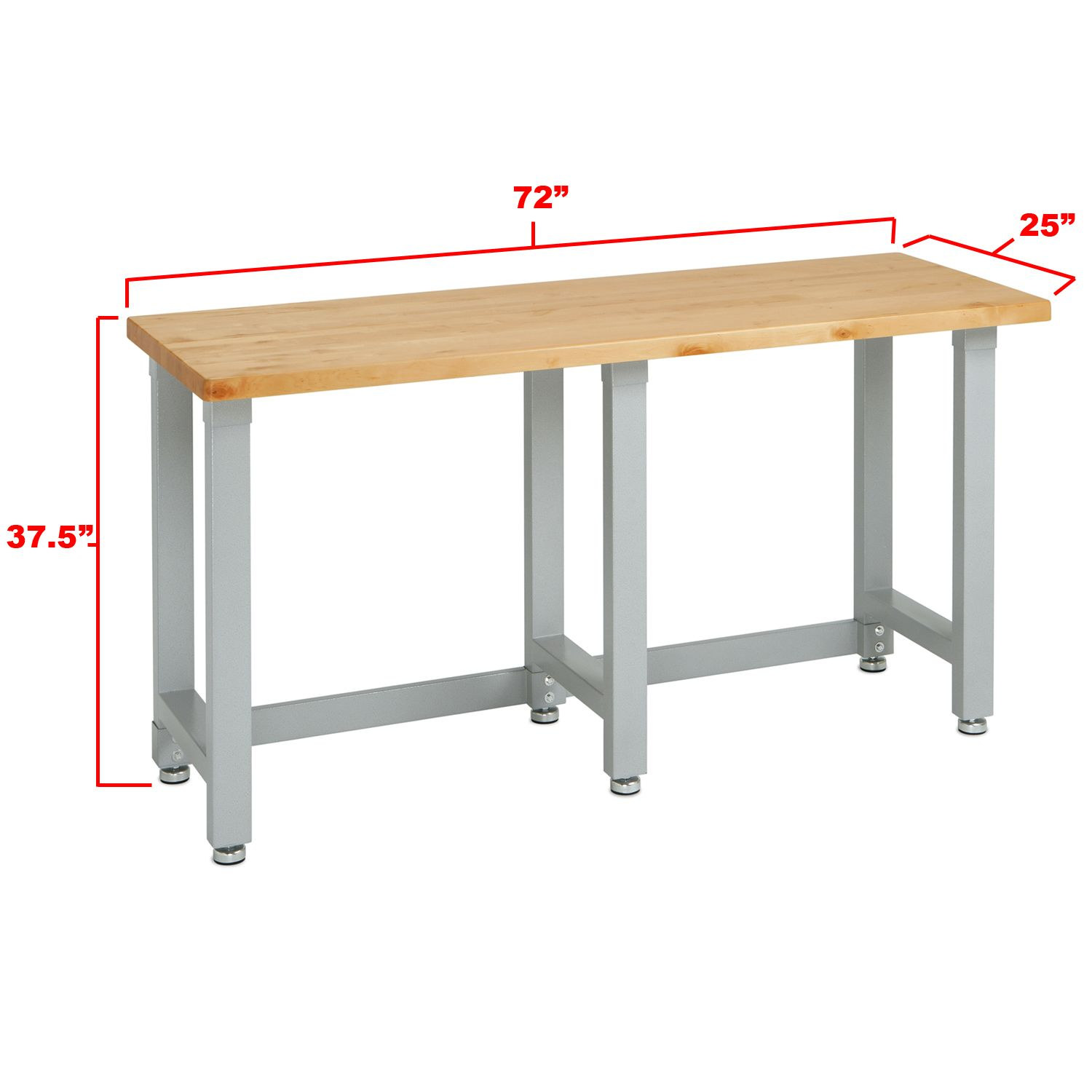 Dimensions Of The Seville Classics 175 Inch Solid Maple Wood Work