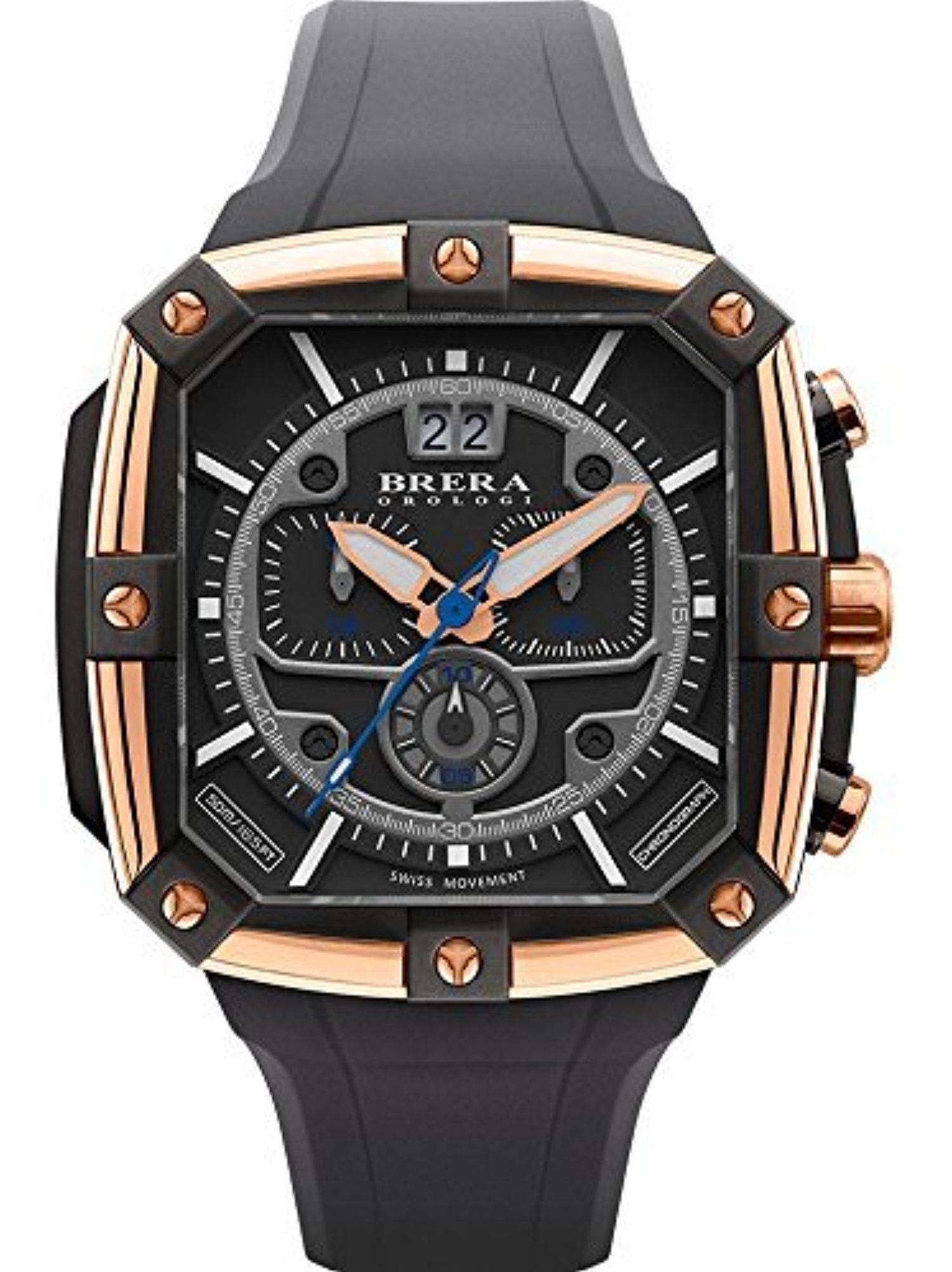 Brera Orologi - Supersportivo Square - Grey - BRSS2C4602 by Brera Orologi -- Awesome products selected by Anna Churchill