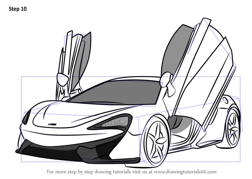 How To Draw Mclaren 570s Drawingtutorials101 Com Car Drawing Pencil Mclaren 570s Race Car Coloring Pages