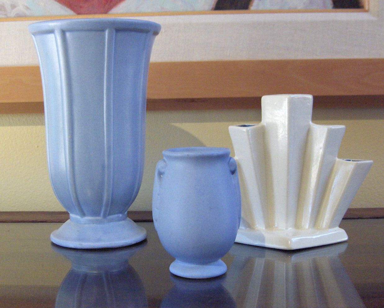 Rumrill pottery vase rumrill vases c 1938 42 from left to right rumrill pottery vase rumrill vases c 1938 42 from left to right 9 pale blue reviewsmspy