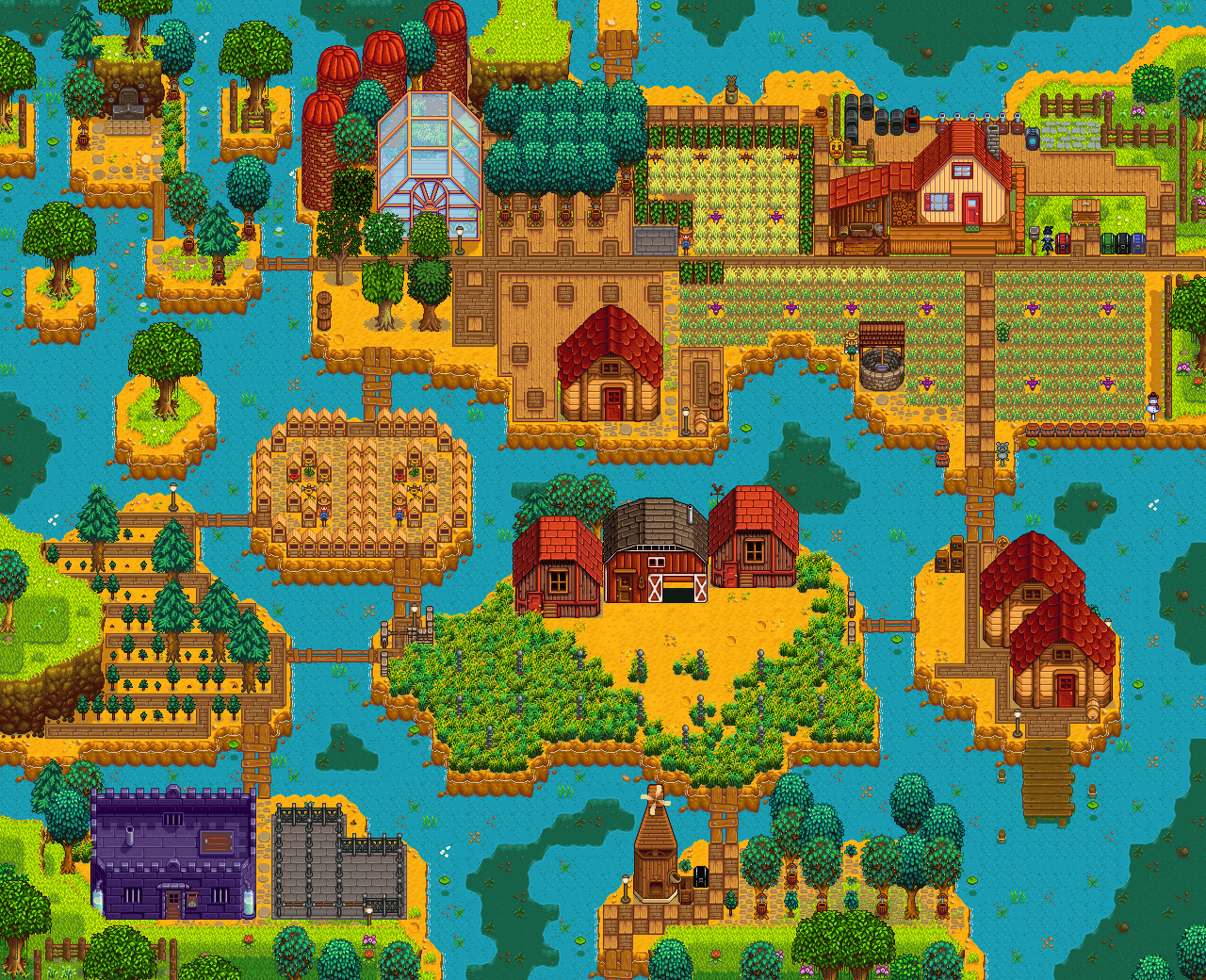 Rivermist Farm Summary Stardew valley farms, Stardew