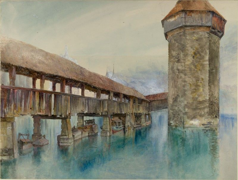 John Ruskin Switzerland - The Kapellbrücke at Luzern