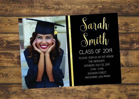 College Graduation Invitation 2019 Ideas Graduation Invitation, Graduate 2019, High School Graduation