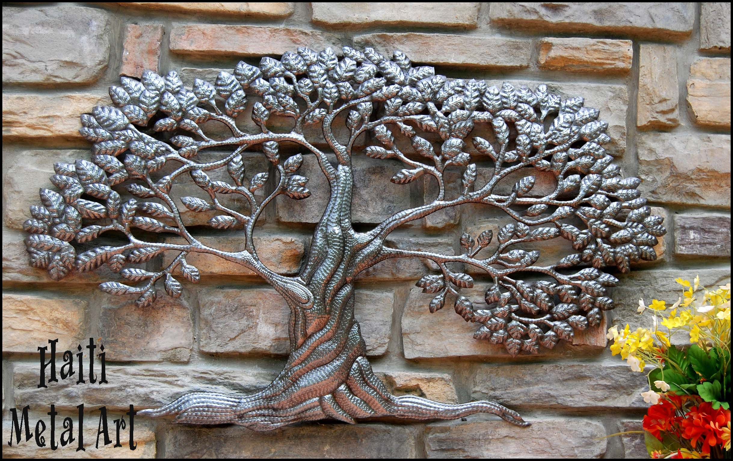 Tree Wall Hanging Outdoor Metal Art Wall Decor Recycled Art