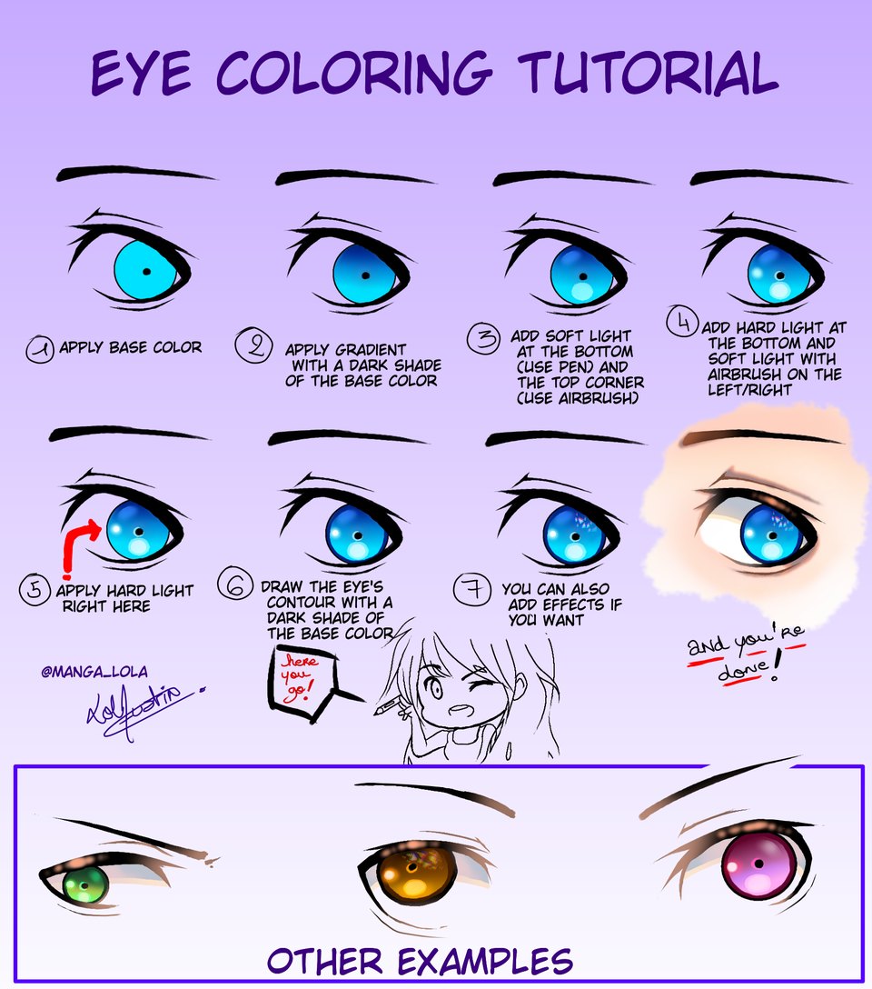 Eye Coloring Tutorial Sorasama A Friend Of Mine Asked For It And I Decided To Shareit With Illustrations Medibang Coloring Tutorial Digital Painting Tutorials Digital Art Programs