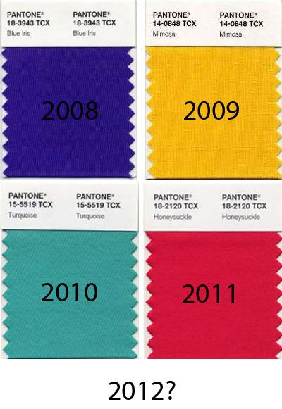 Pantone's Color of the Year for 2012