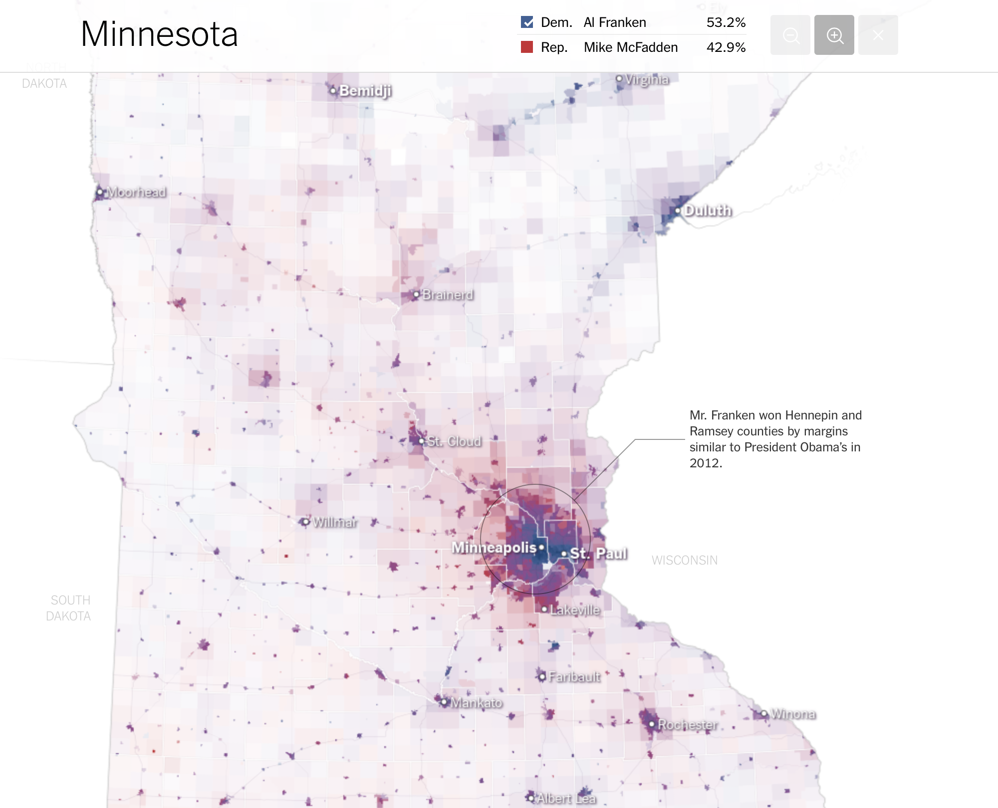 The Most Detailed Maps Youll See From The Midterm Senate - New york times electoral map