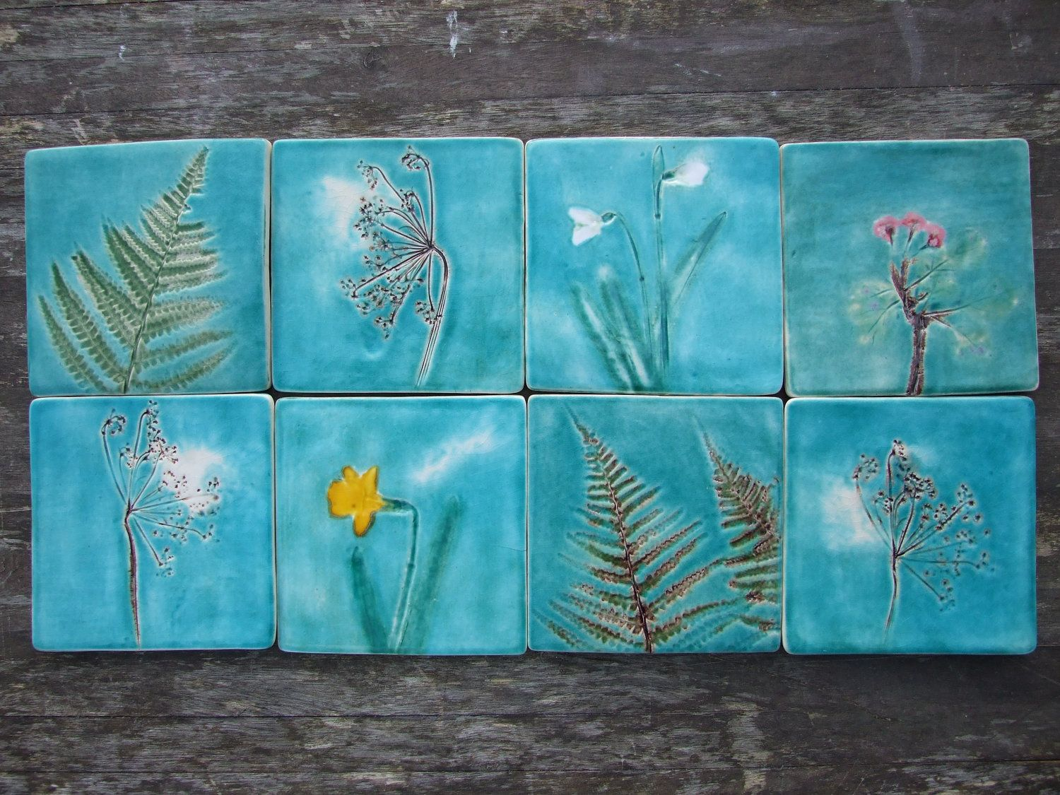 Snowdrop ceramic tile picture turquoise sky rustic wood frame 10 off snowdrop ceramic tile picture turquoise sky rustic wood frame vintage hungarian linen winter time dailygadgetfo Choice Image