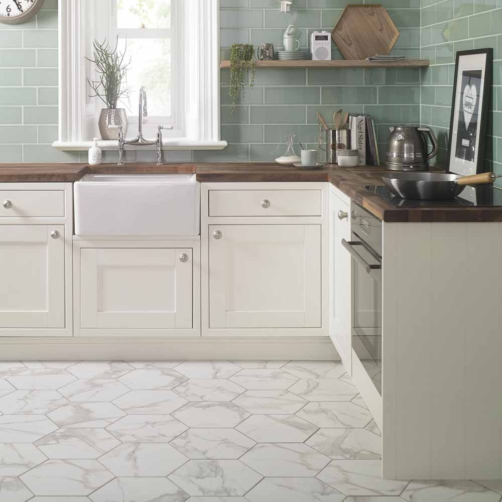 Top 10 Hexagon Tiles Kitchen Flooring Marble Tile Kitchen Hexagon Tile Kitchen