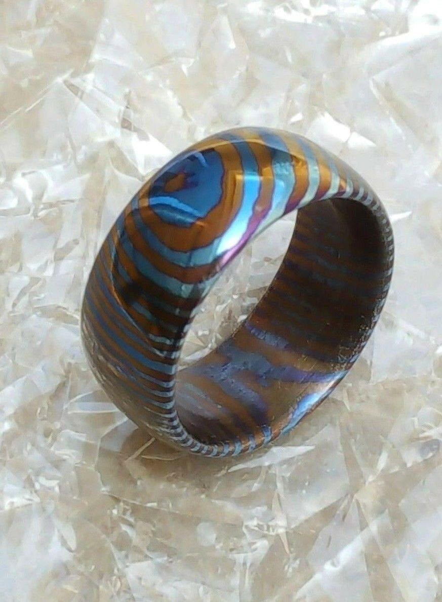 Timascus men's Ring wedding ring Custom Made gift for him