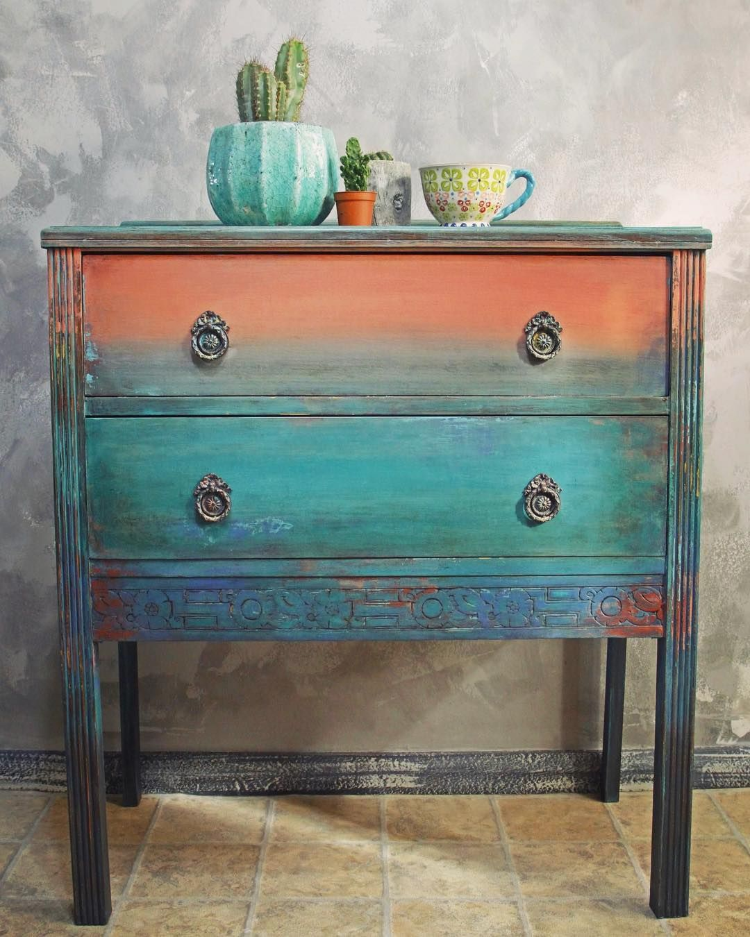 Funky Painted Furniture Bohemian Dressers