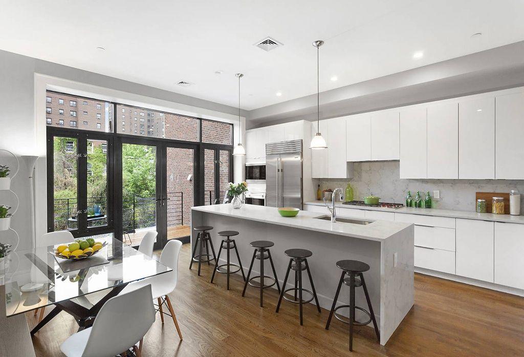 Modern Kitchen With Breakfast Nook Oak  Warm Caramel 2 14 In New Modern Kitchen Nook 2018
