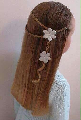Simple but cute girls hair style