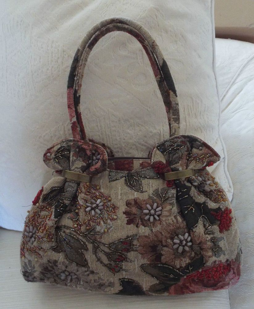 2d041dfccc2 Leko London tapestry shoulder bag with bead detail in Clothes, Shoes ...