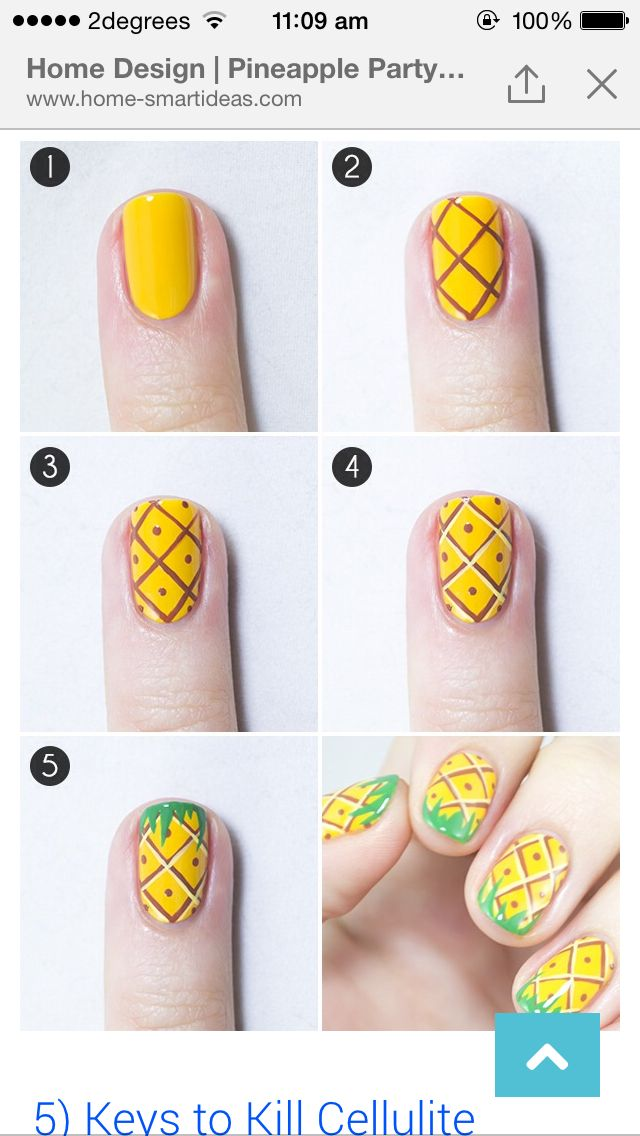 Pineapple nails | Best nails community board~☆ | Pinterest ...