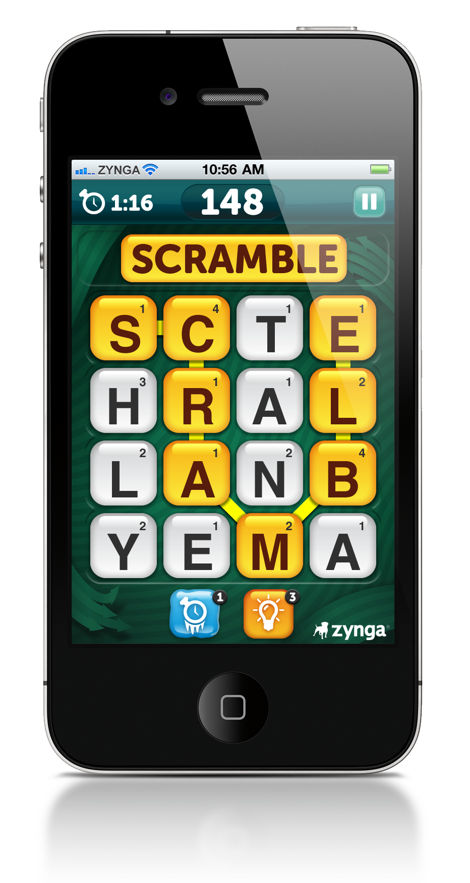 Addicted scramble with friends Iphone apps, Iphone