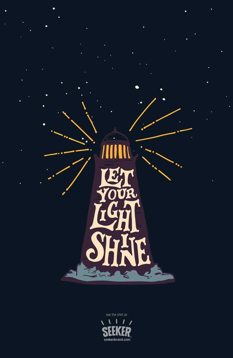 """Seriously, how can you not love this """"Let Your Light Shine"""" illustration by…"""