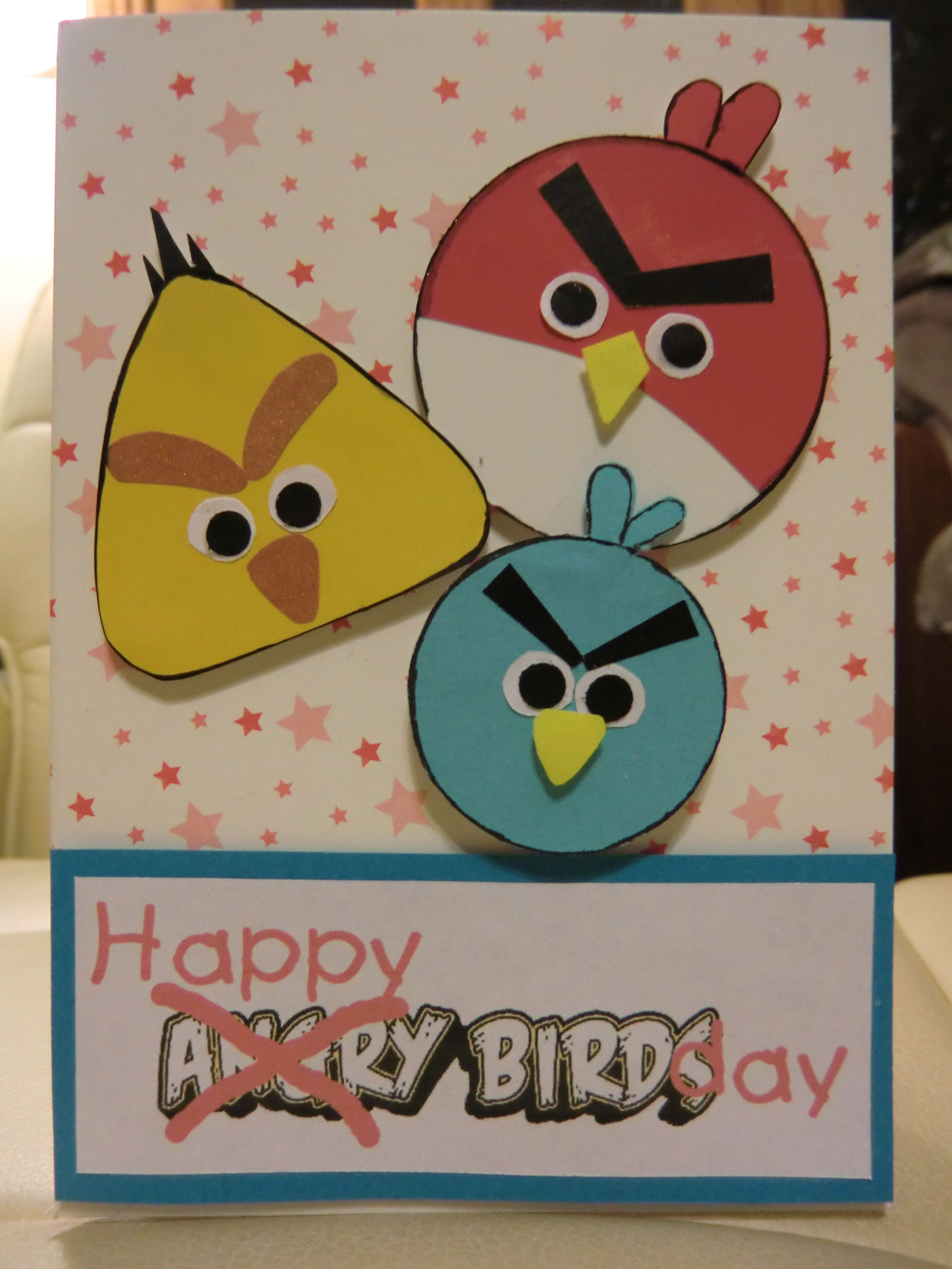 Angry Birds Card For Boy Bday Cards Kids Cards Homemade Birthday Cards