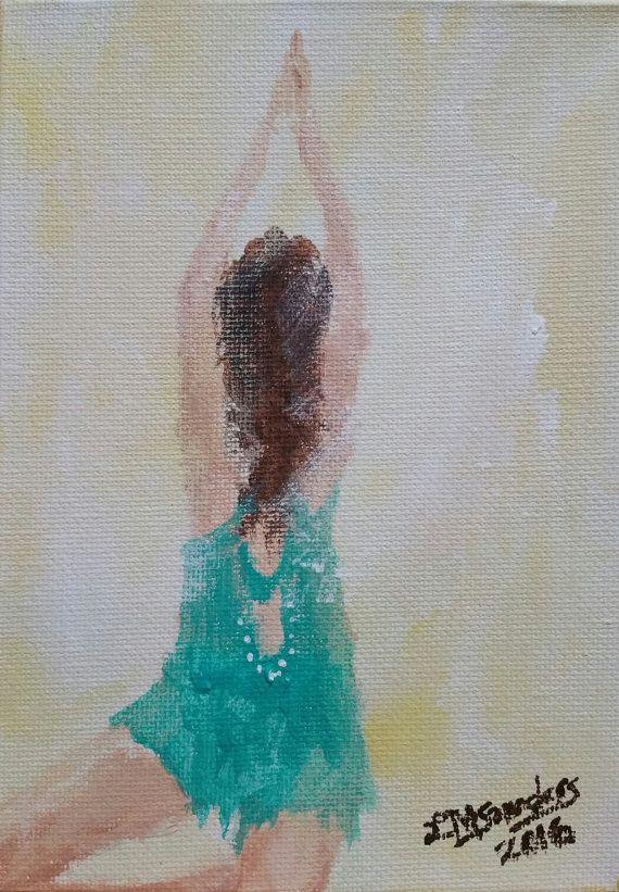 original yoga painting omwoman yoga meditate. Fine Yoga Yoga Painting Original On Small Canvas 5x7  With Painting Omwoman Meditate U