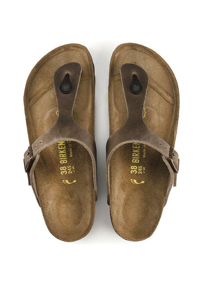 61634571d51 Birkenstock Sandal læder 943811 Gizeh Oiled Leather Tabacco Brown ...