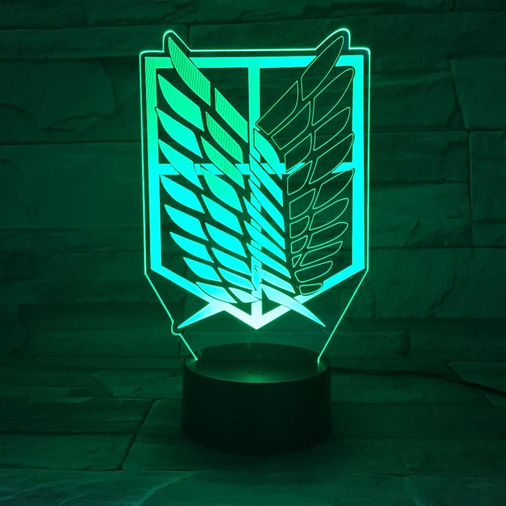 Anime Attack On Titan Wings Of Liberty 3d Light Touch Led Lamp Usb Or 3aa Anime Attack On Titan Wings Of Liberty 3d Animal Lamp 3d Led Lamp 3d Led Night