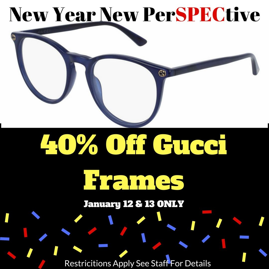 Designer Frames and Sunglasses by Gucci are 40% off with the ...