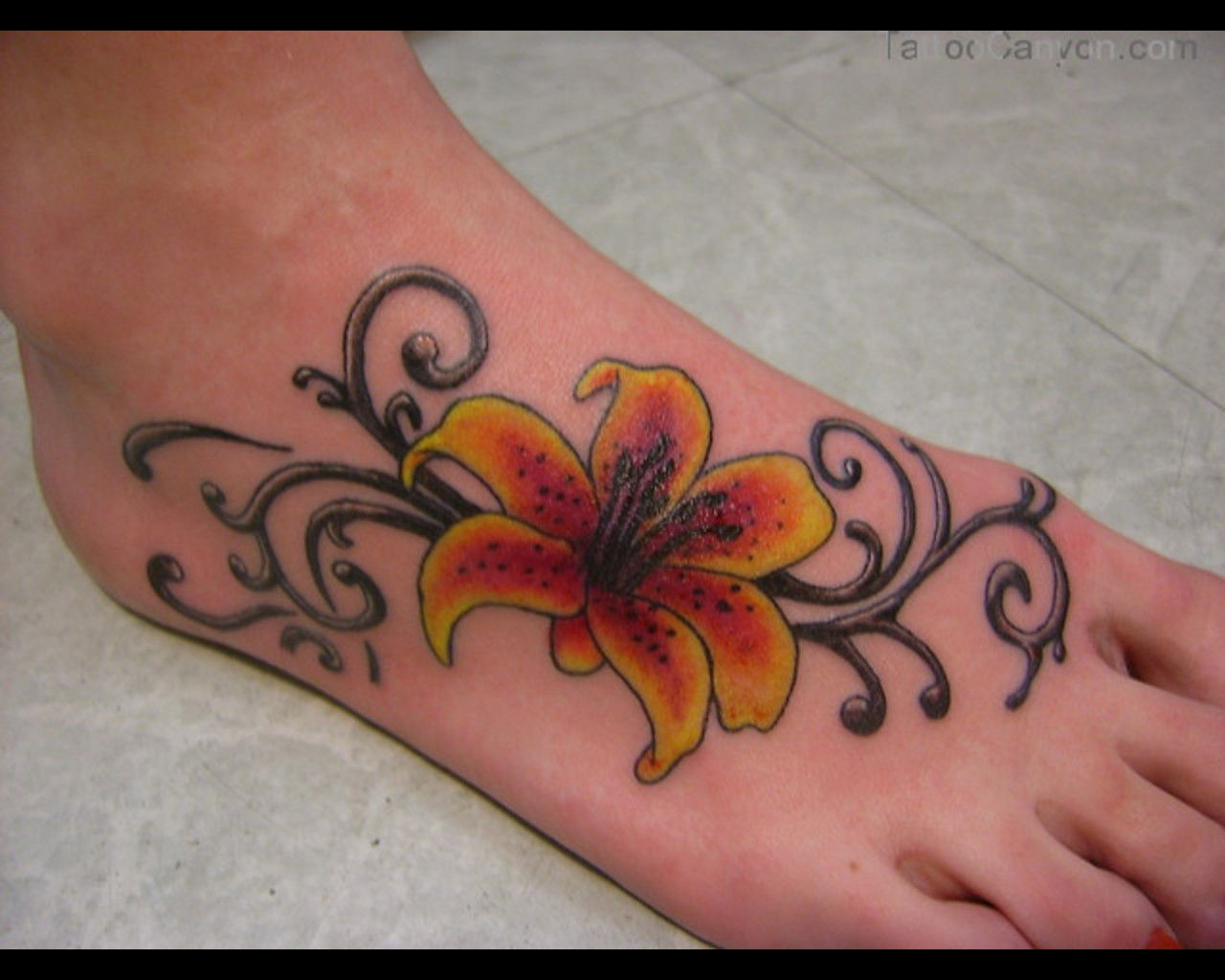 Foot Tattoo Designs For Women 15324 10 Sexy Foot Tattoos For Women