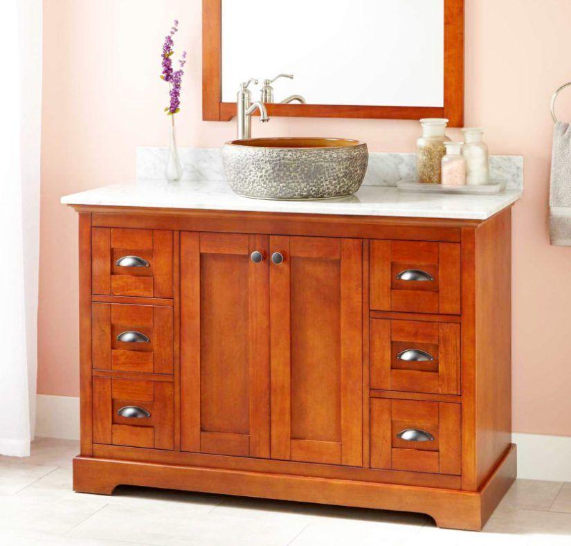 Cherry Bath Vanity Rustic Bathroom, Cherry Bathroom Vanities
