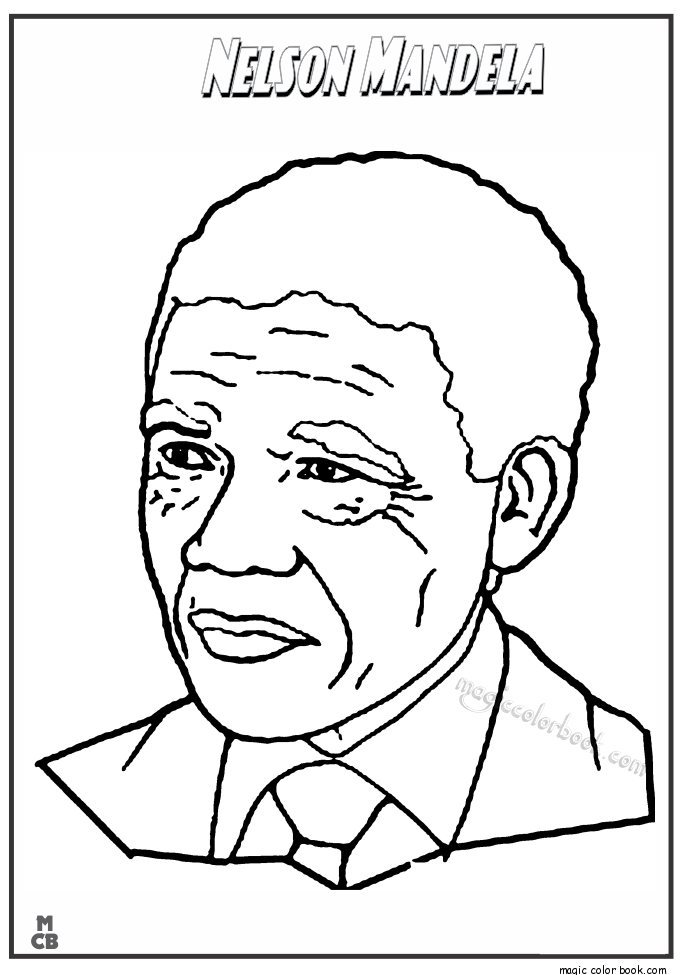 Famous People coloring pages Nelson Mandela | Cycle 2 | Pinterest ...