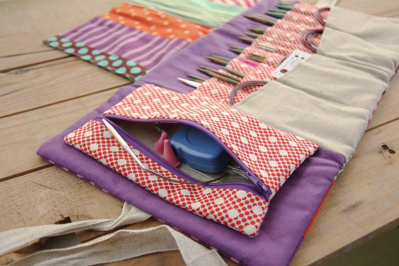 Knitting case. | Fundas patchwork | Pinterest | Nadeltasche, Nähen ...