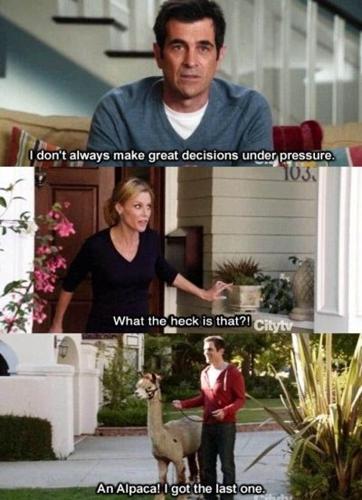 LOL! Also, get the Modern Family living room on a budget here http://thekrazycouponlady.com/at-home/knockout-knockoffs-modern-family-living-room/